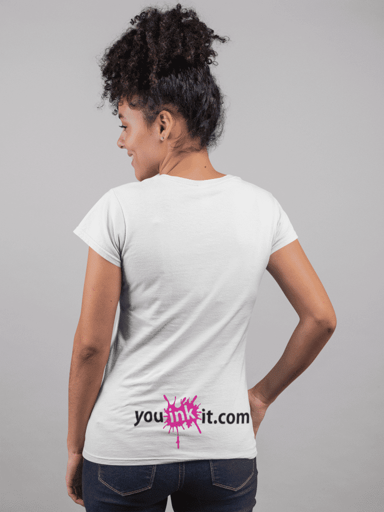 back view tshirt mockup of a happy girl with curly hair 24277 copy