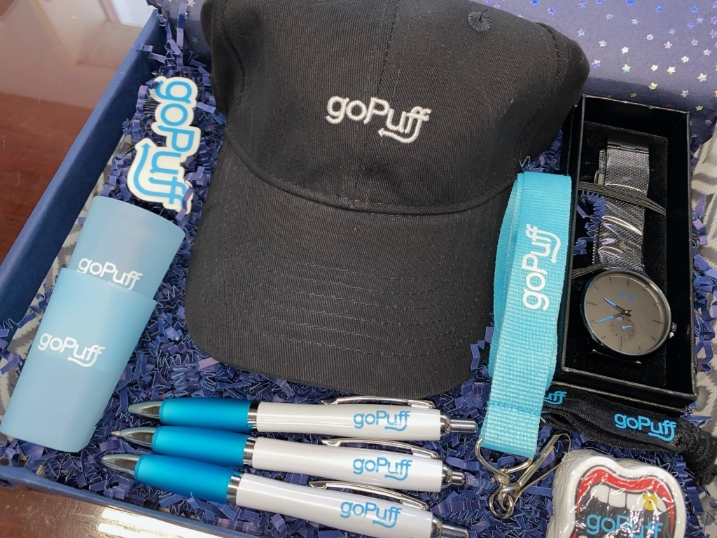 GoPuff corporate holiday gifts