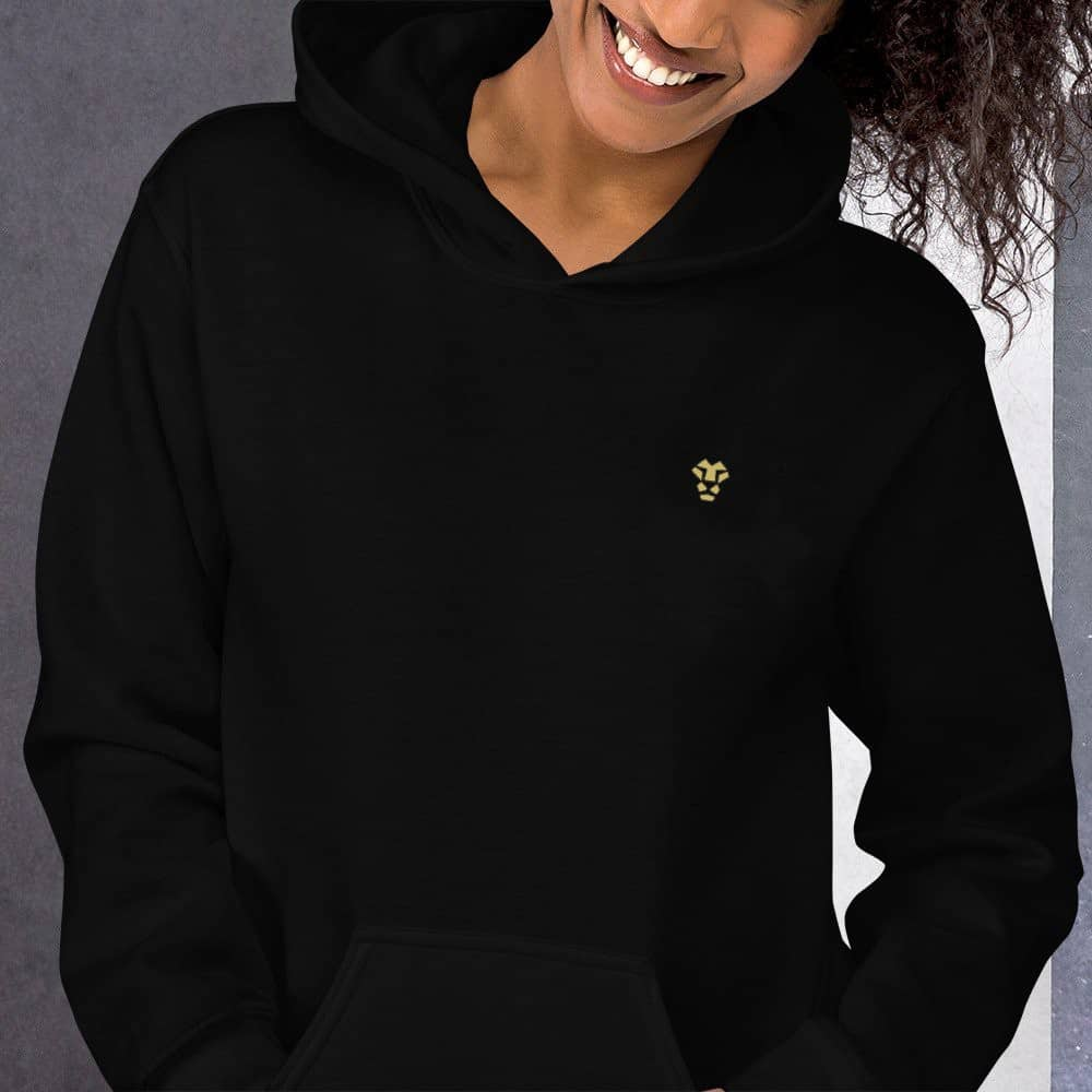 Black Hoodie for Jeeves with Lion Logo